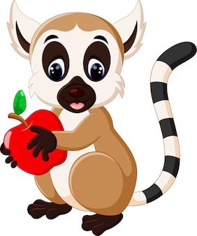 Niedlicher lemur cartoon