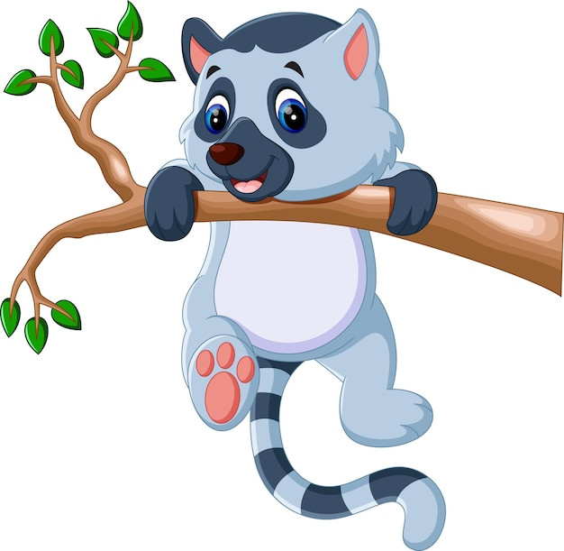 Niedlicher lemur cartoon