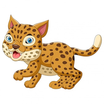 Niedlicher leopard-cartoon