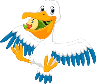 Niedlicher Pelikan Cartoon