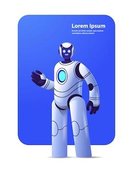 Niedlicher roboter cyborg moderner robotercharakter künstliche intelligenztechnologie