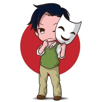 Niedlicher schauspieler-cartoon