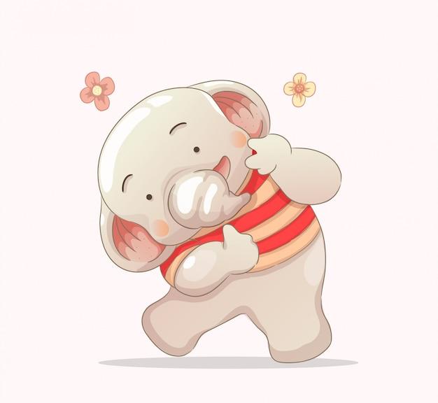 Niedlicher smilling babyelefant