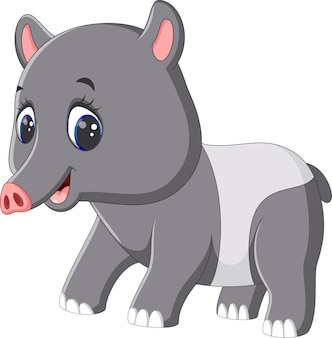 Niedlicher tapir-cartoon