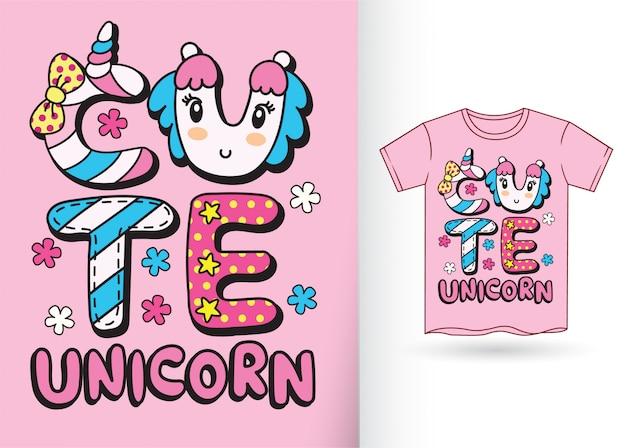 Niedlicher typografieslogan für t-shirt