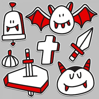 Niedlicher vampir-gekritzelentwurf