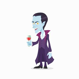 Niedlicher vampir im cartoon-stil