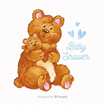 Niedlicher watercolor-babypartyentwurf