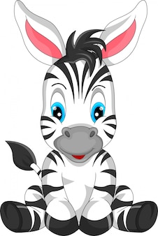 Niedlicher zebra-cartoon