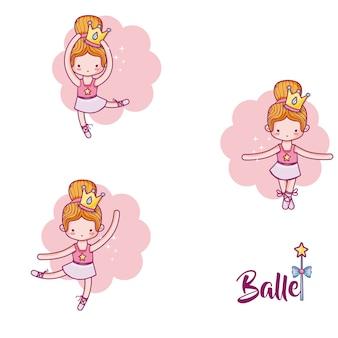 Niedliches ballerina-set