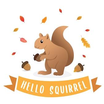 Niedliches cartooneichhörnchen