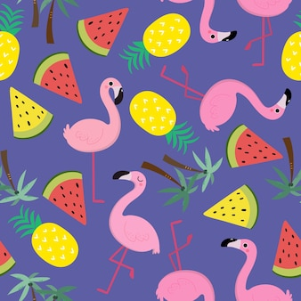 Niedliches flamingomuster