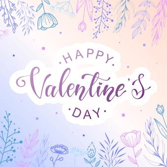 Niedliches glückliches plakat des valentines tages