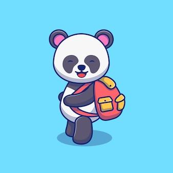 Niedliches illustrationsdesign des kleinen pandas