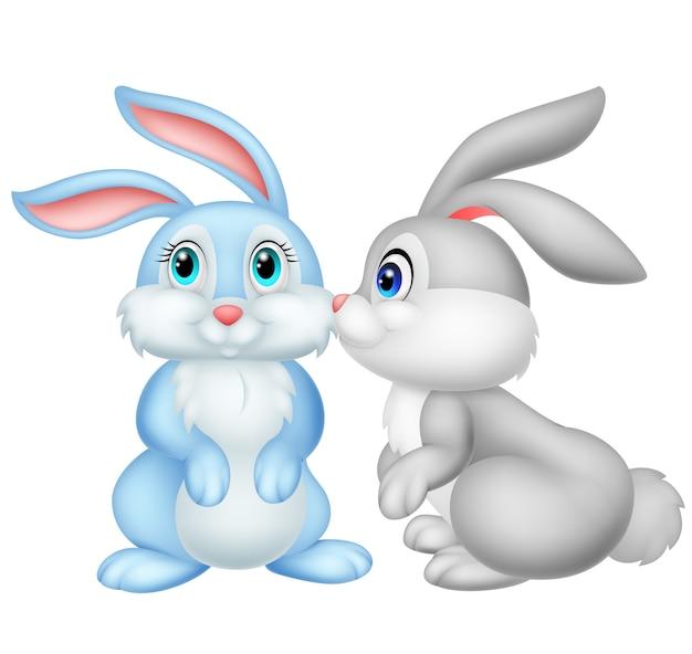 Niedliches kaninchenküssen