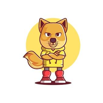 Niedliches katzen-kawaii-logo
