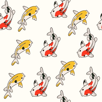 Niedliches koi fisch-muster