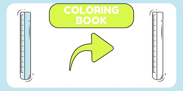 Niedliches lineal handgezeichnetes cartoon-doodle-malbuch für kinder