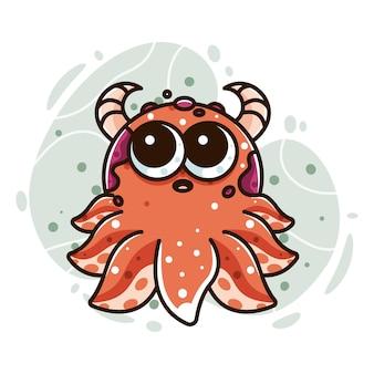 Niedliches oktopus-monster