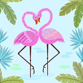 Niedliches rosa flamingomuster