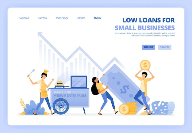 Niedrig verzinsliche darlehen für startups illustration