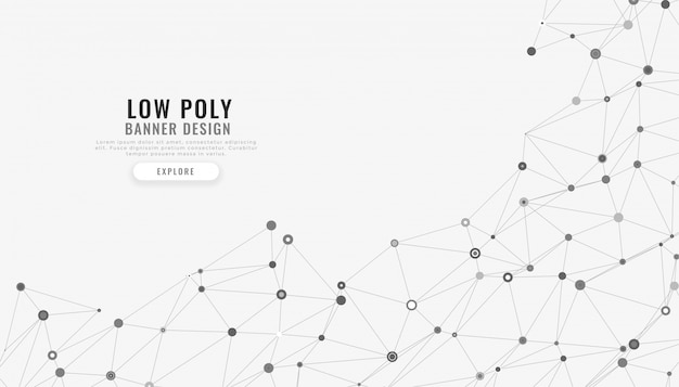 Niedrige digitale linien hintergrund der polymaschenzusammenfassung