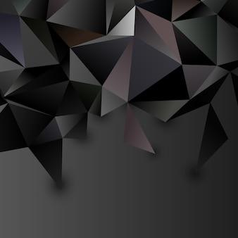 Niedriger abstrakter futuristischer polyhintergrund