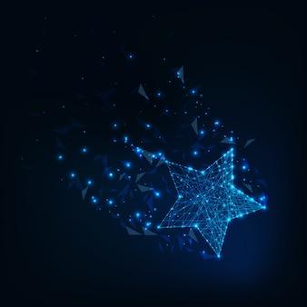 Niedriger polygonaler leuchtender stern