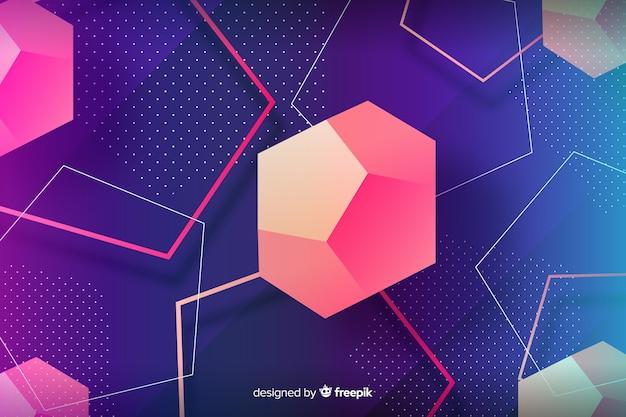 Niedriges geometrisches formhintergrundpolydesign