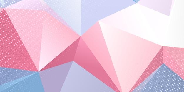 Niedriges poly-banner mit halbtonpunkt-overlay