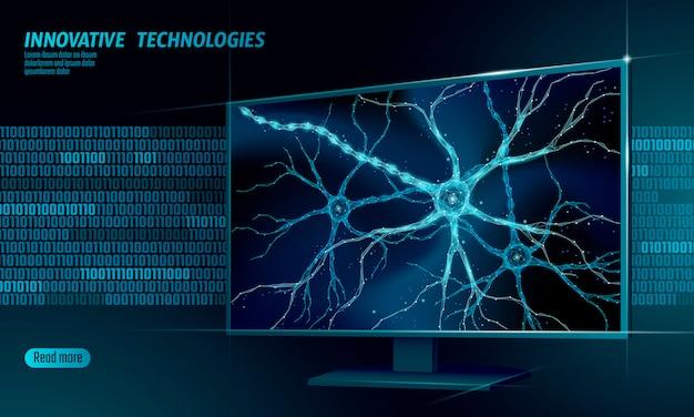 Niedriges polyanatomiekonzept des menschlichen neurons.