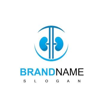 Nieren-logo für gesundheits- oder medizinunternehmen