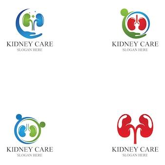 Nierenpflege-symbol und symbol-vektor-illustration