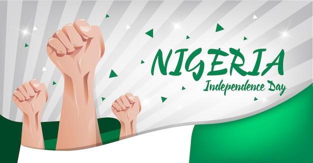 Nigeria independence day hintergrund