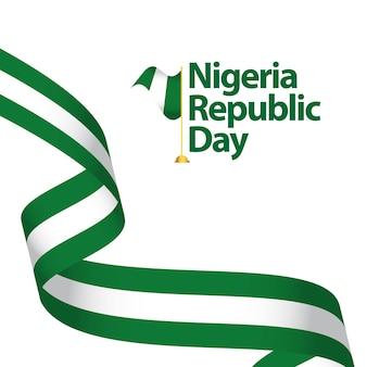Nigeria-republik-tagesvektor-schablonen-design-illustration