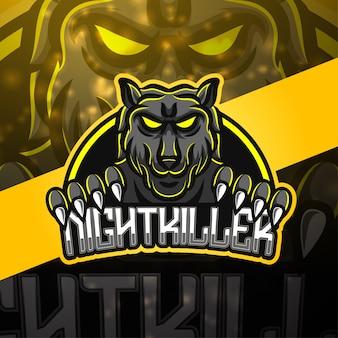 Night killer sport maskottchen logo design