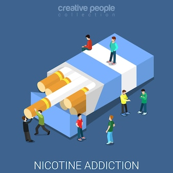 Nikotinsucht flach isometrisch