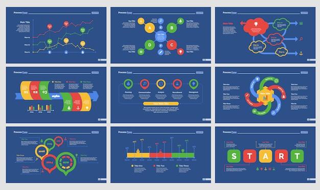 Nine analytics folienvorlagen gesetzt