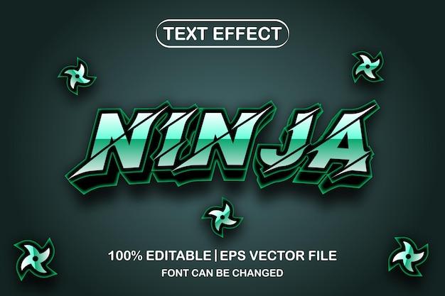 Ninja 3d bearbeitbarer texteffekt