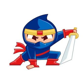 Ninja boy maskottchen design
