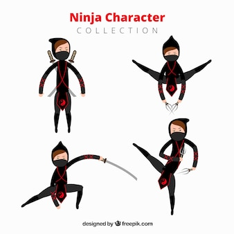 Ninja charakter sammlung