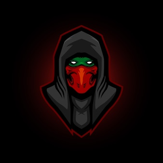 Ninja e sports logo gaming maskottchen