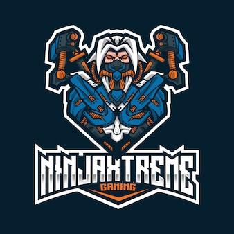 Ninja extreme esport logo vorlage