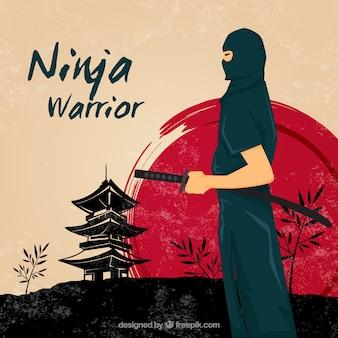 Ninja krieger hintergrund