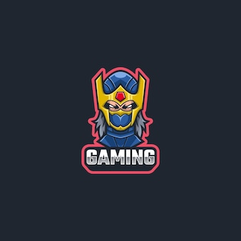 Ninja logo maskottchen