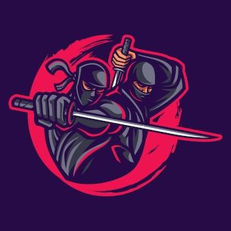 Ninja maskottchen logo