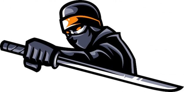 Ninja maskottchen vektor