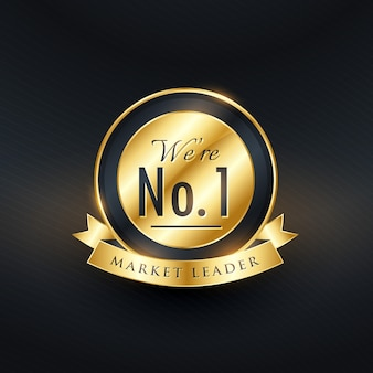 No 1 Marktführer Golden Label und Abzeichen Design