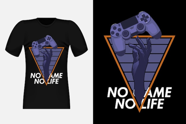 No game no life typografie vintage t-shirt design
