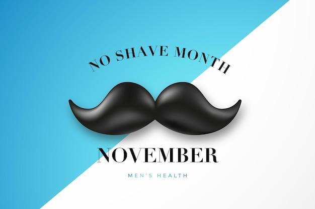 No shave monat november typografischer hintergrund